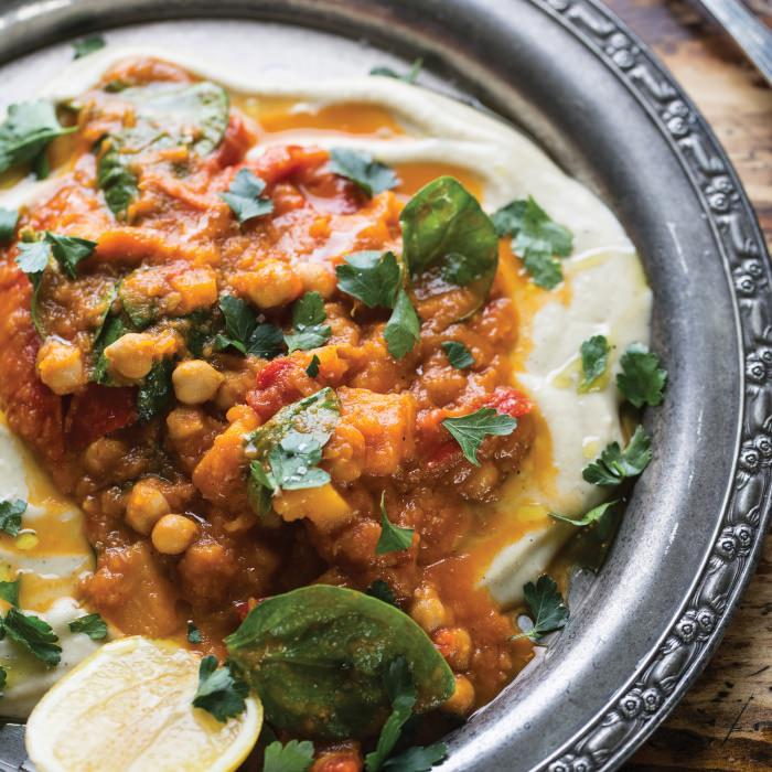 Sultan's Delight with  Spiced Pumpkin & Chickpeas