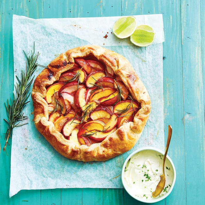 Peach, Rosemary & Lime Galette