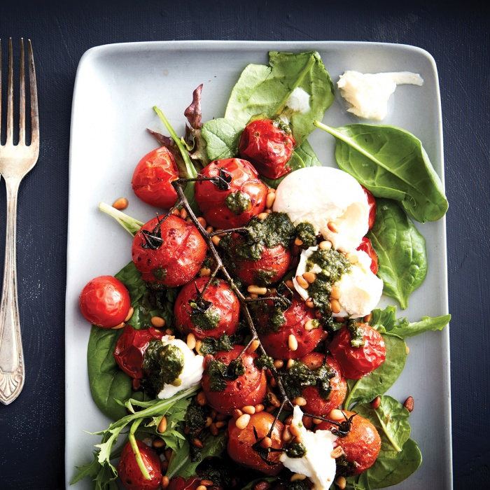 Tomato and Burrata Salad with Basil Oil