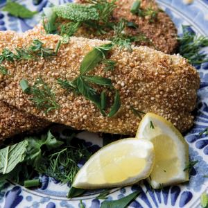 Quinoa-Crumbed Fish with Citrus Salt