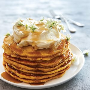 Golden Pumpkin Pancakes