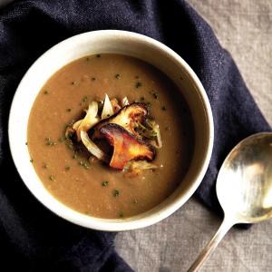Shiitake Mushroom, Fennel & White Bean Soup