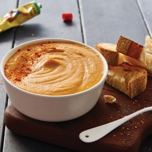 Spicy Sweet Potato & Red Lentil Soup