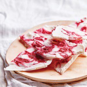 Raspberry Swirl & Coconut Yoghurt Bark
