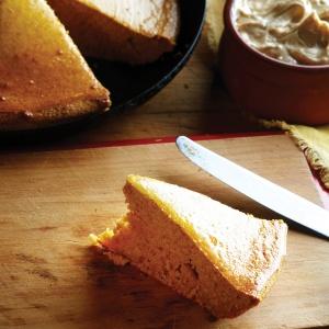 Pumpkin cornbread (breakfast) with whipped cinnamon-honey butter