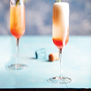 Peach & Rosemary Bellini