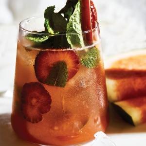 Strawberry & Rhubarb Mojito