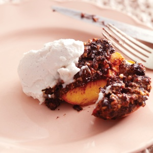 Chocolate and Amaretti Baked Peaches