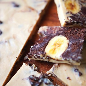 Banana & Peanut Butter Freezer Fudge