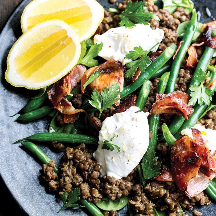 French-Style Lentils & Buffalo Mozzarella