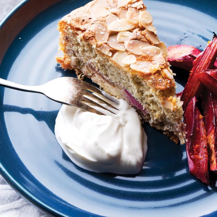 Rough Roasted Rhubarb Cake