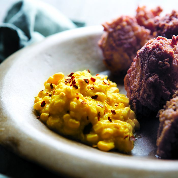 Southern-Style Fried Chicken & Sweetcorn