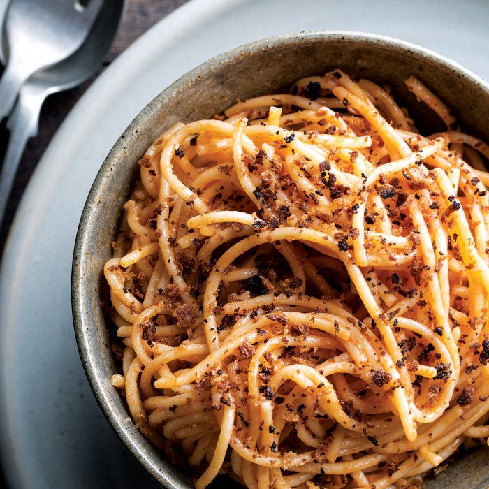 Pasta with Anchovies & Breadcrumbs