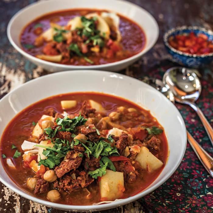 Chorizo, Potato & Cabbage Soup