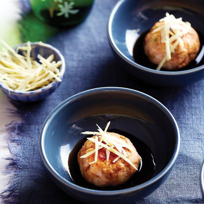 Salmon & Prawn Fish Cakes with Ponzu Soy