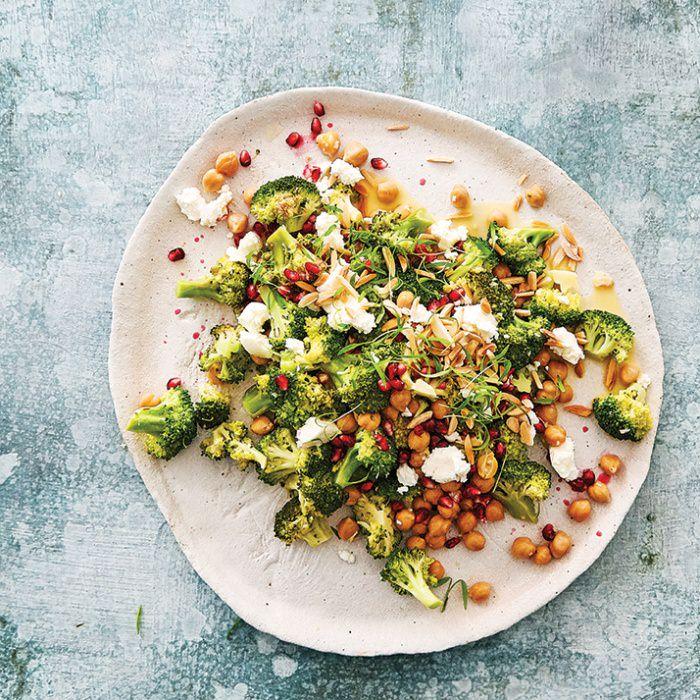 Warm Broccoli & Chickpea Salad