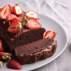 Dark Chocolate  & Strawberry Cake