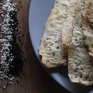 Four-Seed Lavosh Crackers