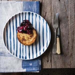 Pain Perdu with Pear, Ginger & Berry Compote