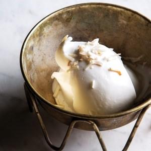 No-Churn Coconut  Ice Cream