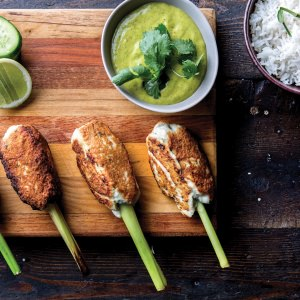 Lemongrass Chicken Skewers with Nam Prik Num