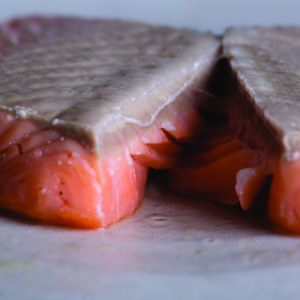 Salmon Gently baked in the oven