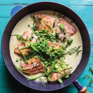 Atlantic Salmon & Leek Sauce