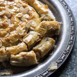 Pistachio & Almond Filo Coil