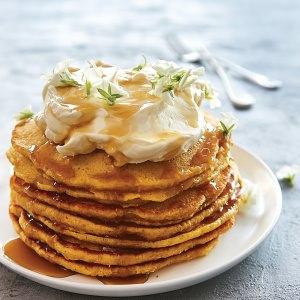 Golden Pumpkin Pancakes