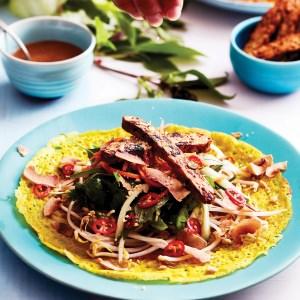 Coconut & Turmeric Vietnamese Pancakes