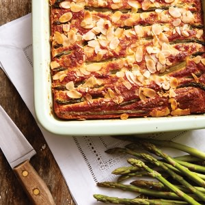 Asparagus, Parmesan & Almond Flan